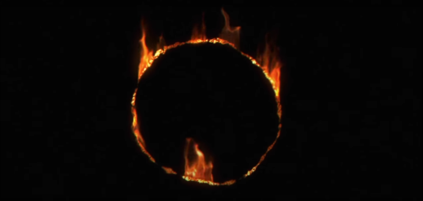 A ring of fire surrounding utter nothingness.